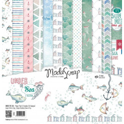 ModaScrap - Paper Pack 30.5 cm x 30.5 cm - Sous la mer