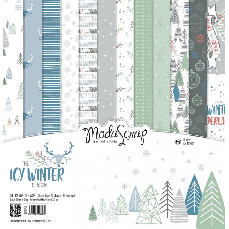 ModaScrap - Paper Pack 30.5 cm x 30.5 cm - Hiver glacé