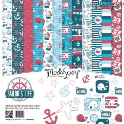 ModaScrap - Paper Pack 30.5 cm x 30.5 cm - Vie de marin