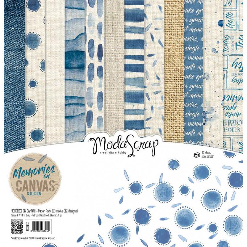ModaScrap - Paper Pack 30.5 cm x 30.5 cm - Mémoire de tissu