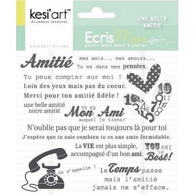 "Tampons clear KesiArt ""Une Belle Amitié"""