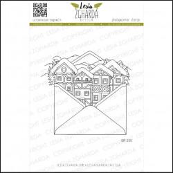 Tampons transparent Lesia Zgharda - Courrier de Noël