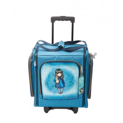 Valise de rangement à roulettes - Gorjuss Bleue