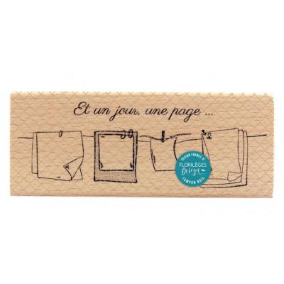 Tampon bois - Florilèges - Un Jour une page