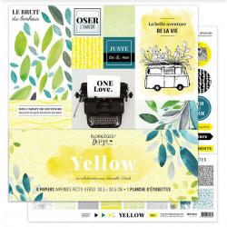 Kit 30.5 X 30.5 - Florilèges - Yellow