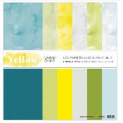 Kit 30.5 X 30.5 - Florilèges - Yellow Unis