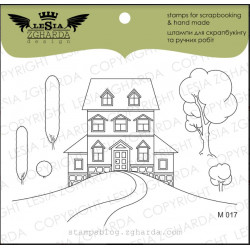 Tampons transparent Lesia Zgharda - Maison avec arbre