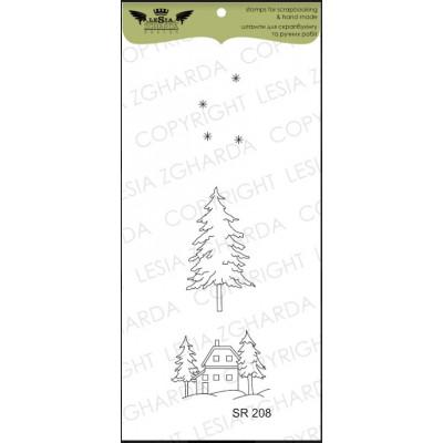 Tampons transparent Lesia Zgharda - Paysage hiver