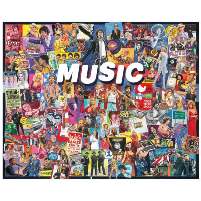 Puzzle White Mountain - 1000 pièces - Musique américaine