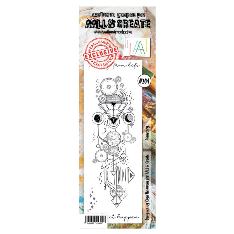 AALL & Create Stamp - 204 - Rouages célestes