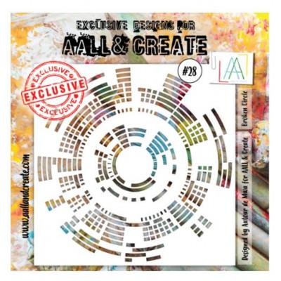 AALL & Create - Pochoir 028 - Ronds
