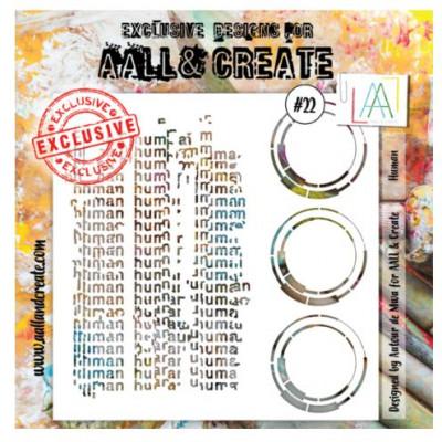 AALL & Create - Pochoir 022- Humanité