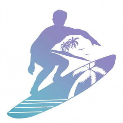 Tampon Clear - Couture Creations - Planche de Surf