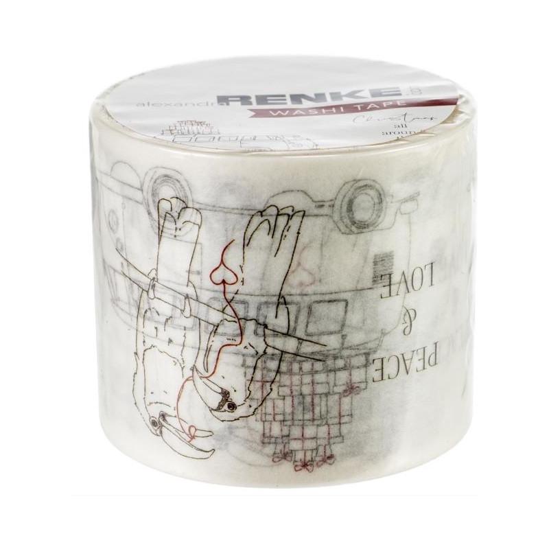 Washi Tape Alexandra Renke -Noël dans le monde - 4 cm
