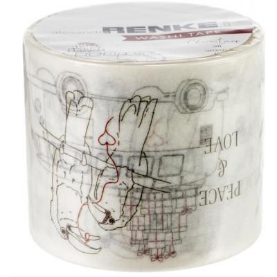 Washi Tape Alexandra Renke -Tour du monde - 4 cm