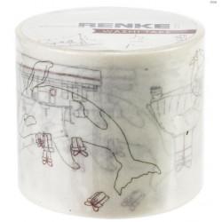 Washi Tape Alexandra Renke - Joie, Amour, Paix - 4 cm