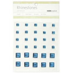 Perles relief autocollantes - Rhinestones - Bleu
