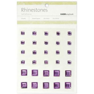 Perles relief autocollantes - Rhinestones - Violet