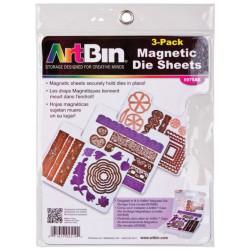 ArtBin - Lot de 3 feuilles magnétique pour rangement die