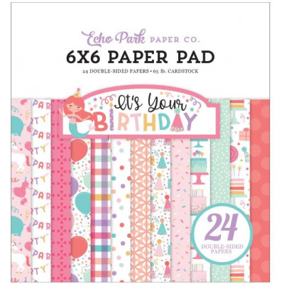 Pack Papier 15.2 x 15.2 - Echo park - It's your birthday - Fille