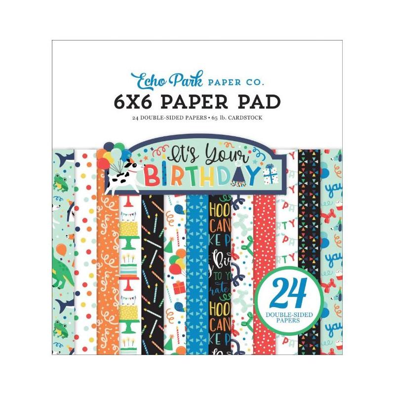Pack Papier 15.2 x 15.2 - Echo park - It's your birthday - Garçon
