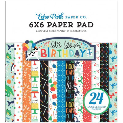 Pack Papier 15.2 x 15.2 - Echo park - It's your birthday - Garçon