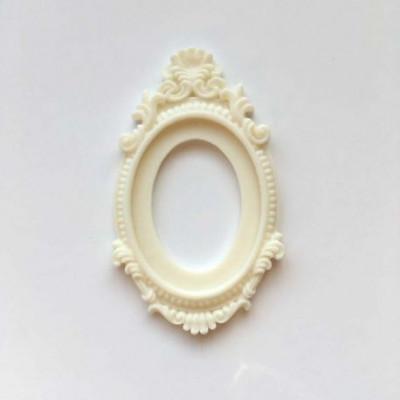 Grand cadre baroque en résine - Crème