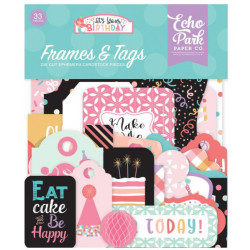 Die Cuts - Echo Park - Birthday - Girl Frames & Tags