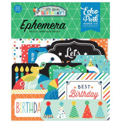 Die Cuts - Echo Park - Birthday - Boy Ephemera
