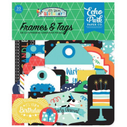 Die Cuts - Echo Park - Birthday - Boy Frames & Tags