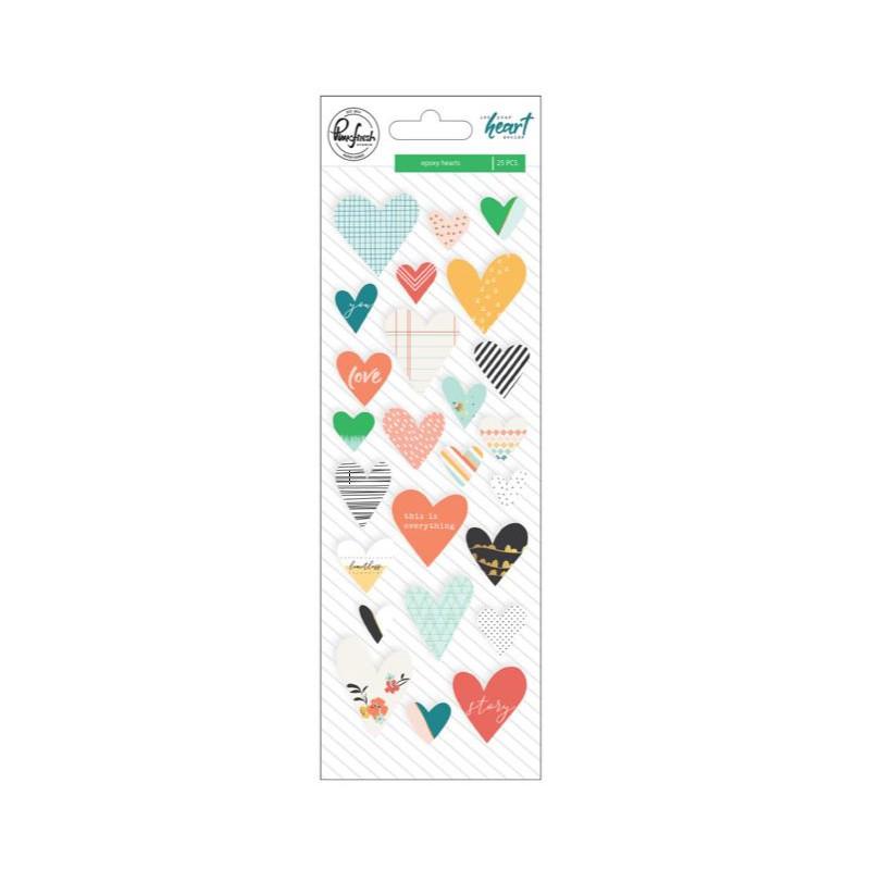 Stickers Epoxy - Pinkfresh Studio - Coeurs