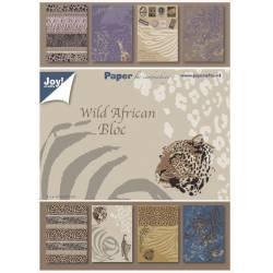 Pack de papiers 15x21cm - Joy Crafts - Wild African Bloc