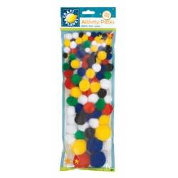 Pompons - Craft planet - 100p - Couleurs assorties