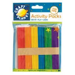 Bâtons Sucette - Craft planet - 50p - Couleurs assorties