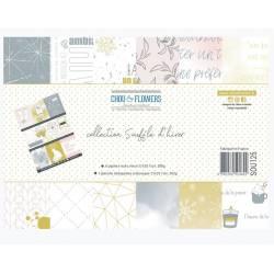 Papier A4 - Chou & Flowers - Collection Souffle d'hiver