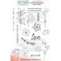 Tampons Clear - Chou & Flowers - Souffle d'hiver - Bouquet d'hiver