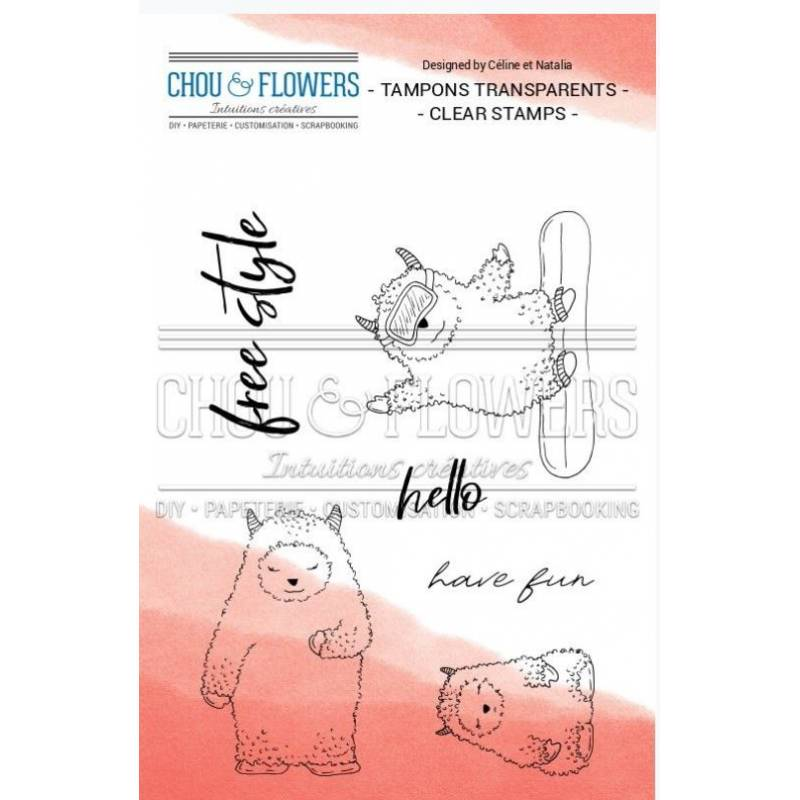 Tampons Clear - Chou & Flowers - Souffle d'hiver - Famille Yeti