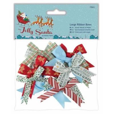 Grands Noeuds en ruban - Docrafts - Jolly Santa
