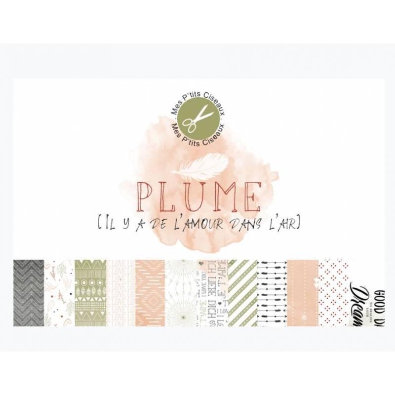 Papiers - Mes Ptits Ciseaux - Collection Plume
