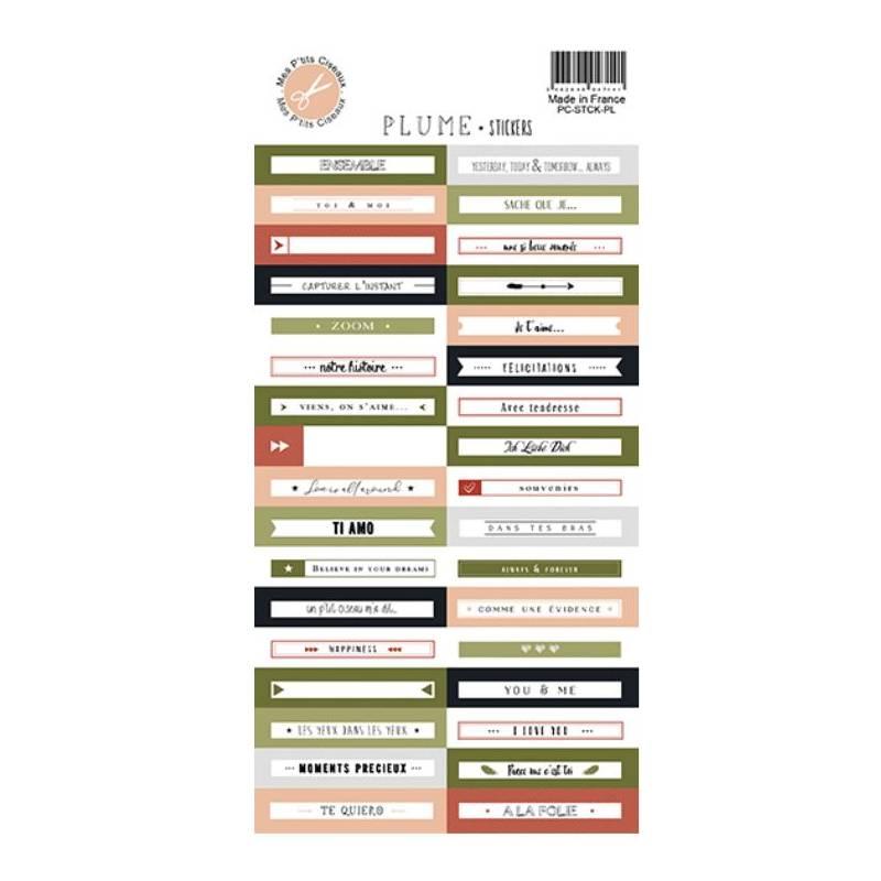 Stickers - Mes Ptits Ciseaux - Plumes