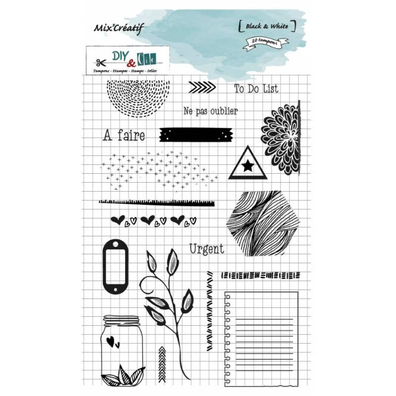 Tampon clear - DIY and Cie - Black & White