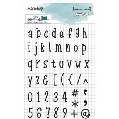 Tampon clear - DIY and Cie - Alphabet Licorne