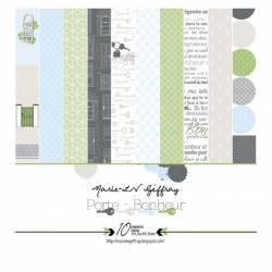 Marie-LN Geffray - Papiers - 30.5 cm x 30.5 cm - Collection Porte-Bonheur