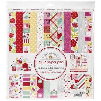 Pack 30x30 - Doodlebug design Inc - Love notes