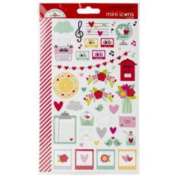 Stickers Mini icons - Doodlebug - Love Notes