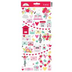 Stickers Icons - Doodlebug - Love Notes