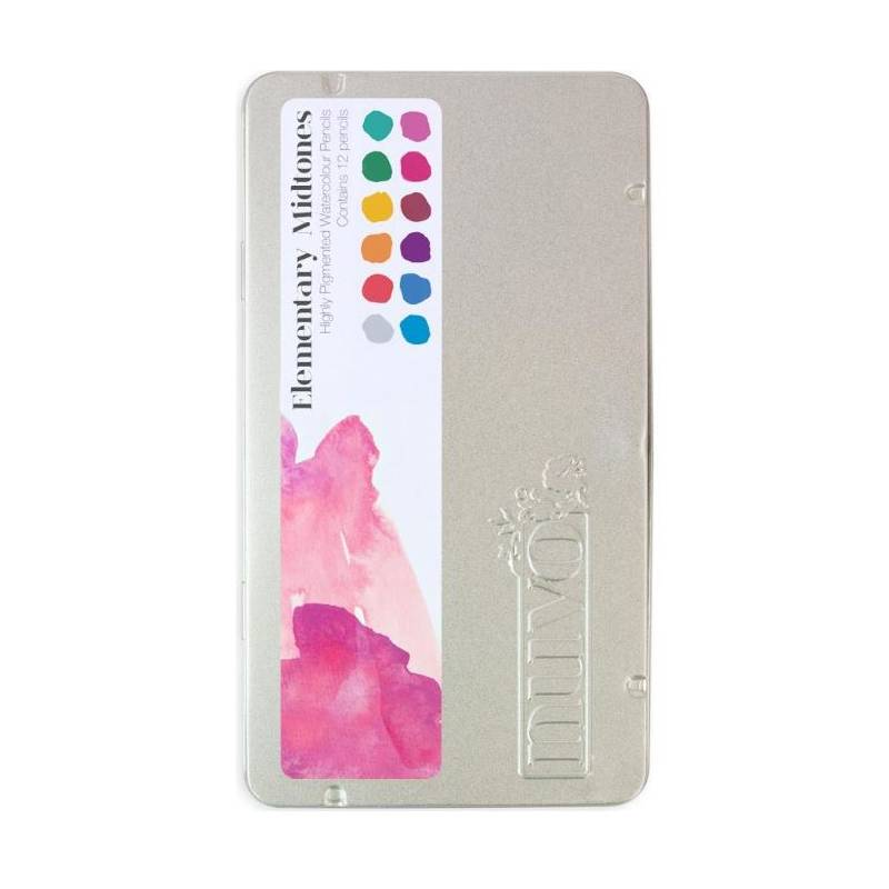 Crayons aquarellables Nuvo - Elementary Midtones
