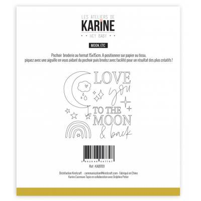 Pochoir - Les Ateliers de Karine - Hey Baby Moon, etc