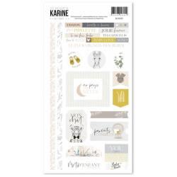 Les Ateliers de Karine - Hey Baby - Stickers - 15 x 30