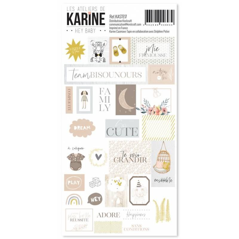 Les Ateliers de Karine - Hey Baby - Stickers - Etiquettes